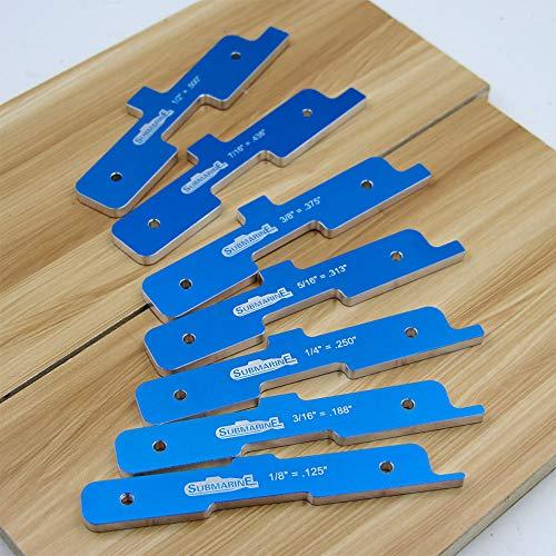 Routertabel instellen bars, 7 stuks router tabel instellen houtbewerkingsdiepte test afstand tabel instellen Saw Precision Router tabel instellen bar