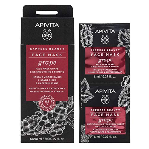 Apivita - Express Beauty Anti-Wrinkle &Amp; Firming Mask With Grape 6X(2X8Ml) - Soins De La Peau