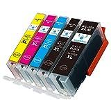 【Angelshop】BCI-371XL(BK/C/M/Y)+370XLBK 大容量 5色セット キヤノン用 互換インクカートリッジ 残量表示機能付 ICチップあり【安心の1年保証】
