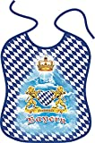 ITATI-Textilien Großes Lätzchen für Erwachsene = Freistaat Bayern = Schönes