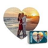 Puzzles personalizados 111 piezas Corazón con foto y texto | Máxima calidad de impresión | Tamaño: Corazón 111 piezas (35 x 31 cm) - Con caja personalizada