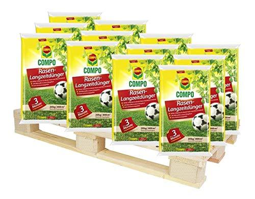 COMPO Rasen-Langzeitdünger 1000 kg - Rasenpflege für Spiel-, Sport- & Zierrasenflächen - für ca. 800 m²