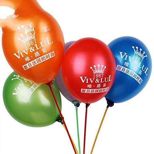 WanTo 500 unids 12 Pulgadas de Espesor 2.8 g Globos de látex Personalizados Impresos Globos con Logotipo Impreso Publicidad Globos para la Fiesta de cumpleaños Suministros