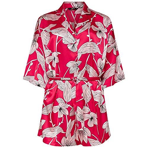 Only Mexi Satin Kimono Playsuit Wvn Flame Scarlet, rojo, S