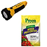 Toucan City LED Flashlight and Preen 25 lbs. Natural Vegetable Garden Weed Preventer 2464220