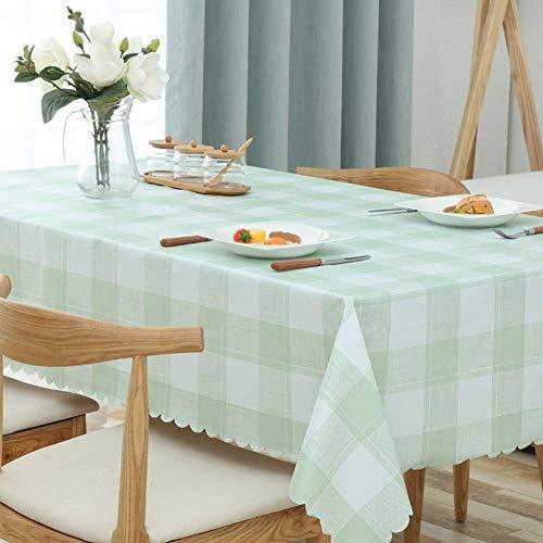 JLYZB Grid Pvc Japans tafelkleed, kunststof rooster tafelkleed, niet wassen, waterdicht, morsbestendig tafelblad decoratie tafelkleed, pinka 45x45cm
