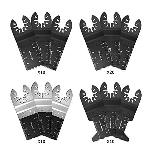 Accesorios para herramientas 50 unids multifunción bi-metal precisión de precisión cuchilla cuchilla oscilante kit de corte de madera herramienta herramienta de sierra circular para madera y metal