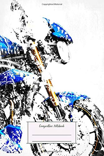 Composition Notebook: My Motorbike Series Artwork Based On The Triumph Speed Lined, Soft Cover, Letter Size