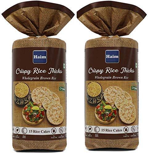HAIM Organic Wholegrain Brown Rice Cakes-Unsalted Pack of 2