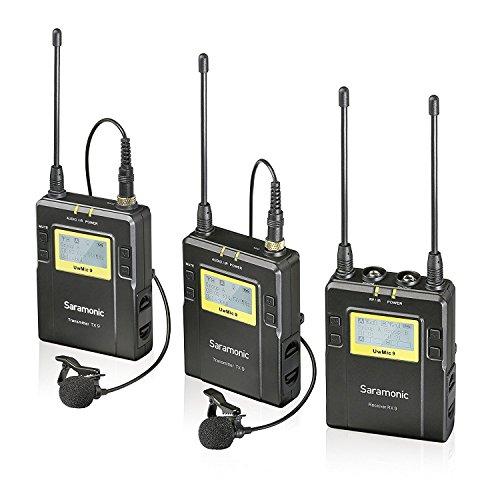 Saramonic Uwmic9 TX9 + TX9 RX9 dasspeld microfoon zwart