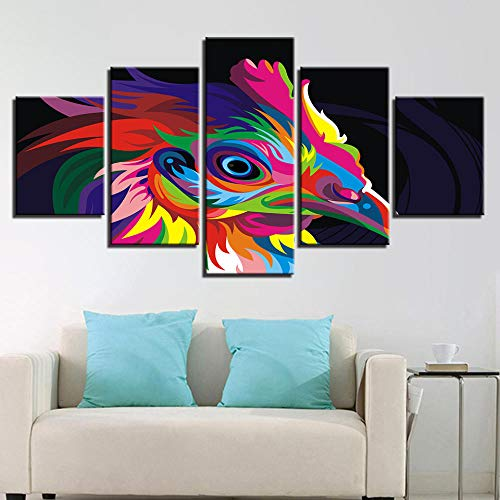Rkmaster-Hd Print Modular Chicken Picture 5 Plate Colorful Bird Painting Animal Canvas Mural Art Living Room Home Decor30Cm * 40Cm * 2 30Cm * 60Cm * 2 30Cm * 80Cm * 1 Enmarcado