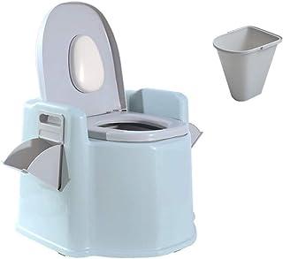 Praktisch, handig campingtoilet Draagbaar toilet met wasbare mand en toiletrolhouder, met gsm-platform/toiletrolhouder, 20...