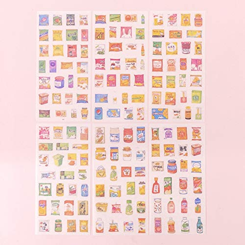 Cute Girl Flower Paper Sticker Kawaii Diary Scrapbooking Decoration Album Japanese Stationery Stickers 6 Sheets