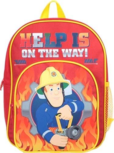 Fireman Sam Help on The Way Pocket Backpack Red
