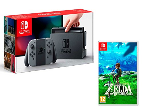 Nintendo Switch Console Gris 32Go + The Legend of Zelda: Breath of The Wild