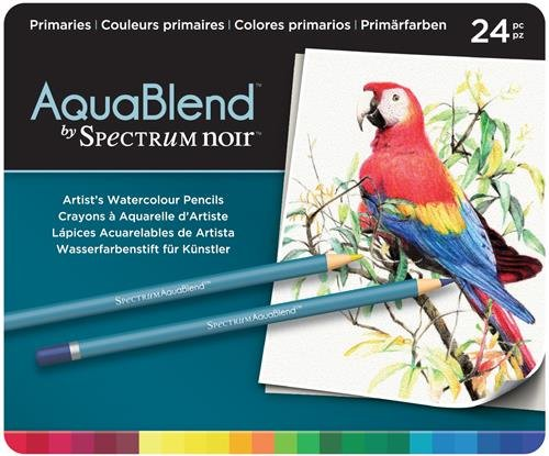 Aquablend by Spectrum Noir Spectrum Noir AquaBlend Watercolour Pencil Set-Primaries