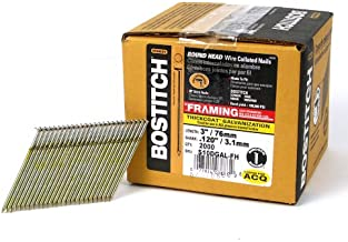 BOSTITCH S10DGAL-FH 28 Degree 3-Inch by .120-Inch Wire Weld Galvanized Framing Nails (2,000 per Box)