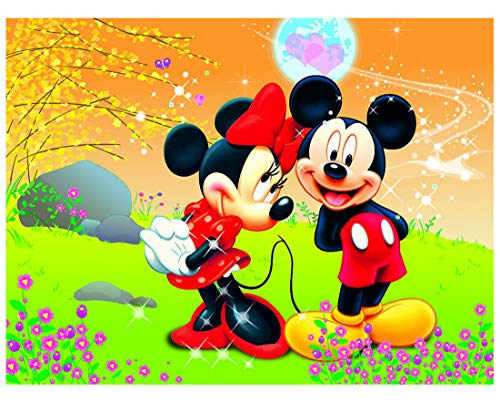 smileh Pintura de Diamante de Mickey Minnie Mouse por Números DIY Diamond Painting 5D para Adultos Niños 30 * 40cm Sin...