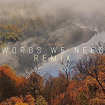 Words We Need (Remix)