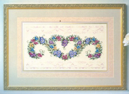 Elsa Williams Floral Brocade Cross Stitch Kit