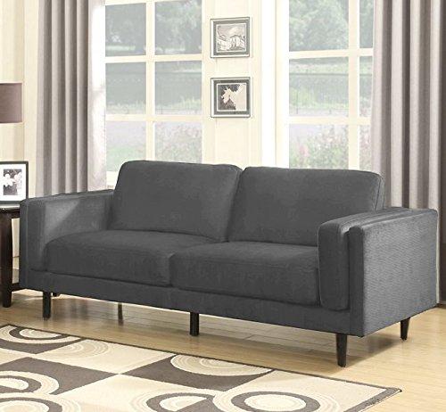 SEDEX Neapel Sofa 3-Sitzer Couch Polstergarnitur Kunstleder - Hellgrau