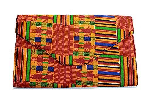 African Kente Print Clutch Purse