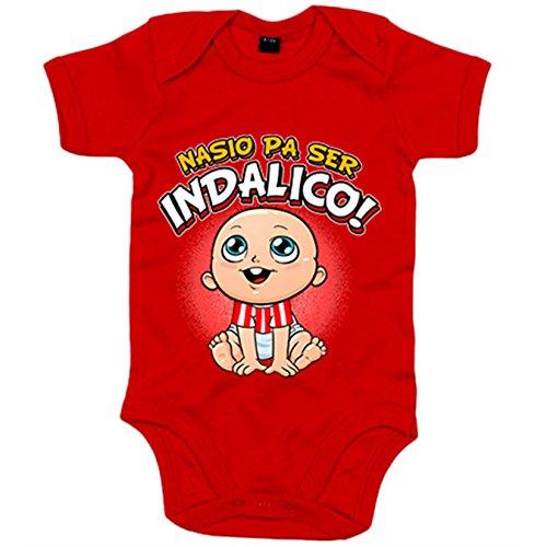 Body bebé nacido para ser Indálico fútbol - Rojo, 6-12 meses