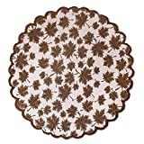DII CAMZ36555 40' Round Lace Table topper, Maple Leaf Brown - Perfect for Fall, Thanksgiving, Catering Events, Dinner Parties, Special Occasions or Seasonal Décor
