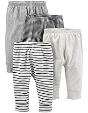 Simple Joys by Carter's Bebé Niños pantalón de algodón, Pack de 4