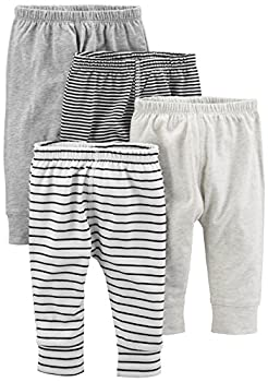 Simple Joys by Carter s Baby 4-Pack Pant Gray Stripe 3-6 months