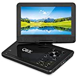 "QKK 10.1"" Portable DVD Player, Built In 5 Hours Rechargeable Battery, 270°Rotatable HD"