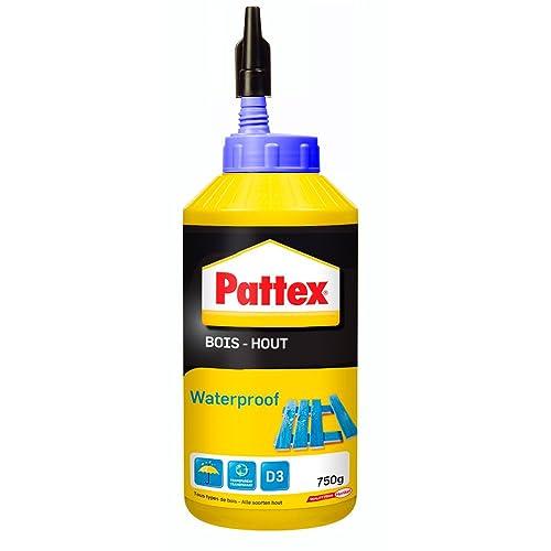 Pattex Biberon de Colle à bois - Waterproof - 750 g - Transparent