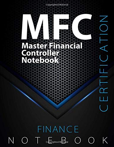 """MFC Notebook, Master Financial Controller Certification Exam Preparation Notebook, 140 pages, MFC examination study writing notebook, Dotted ... 8.5"""" x 11"""", Glossy cover pages, Black Hex"""