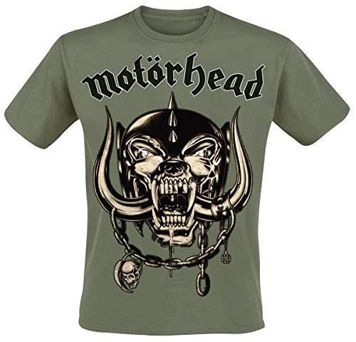 Motörhead Army Green Warpig T-Shirt Oliv XL