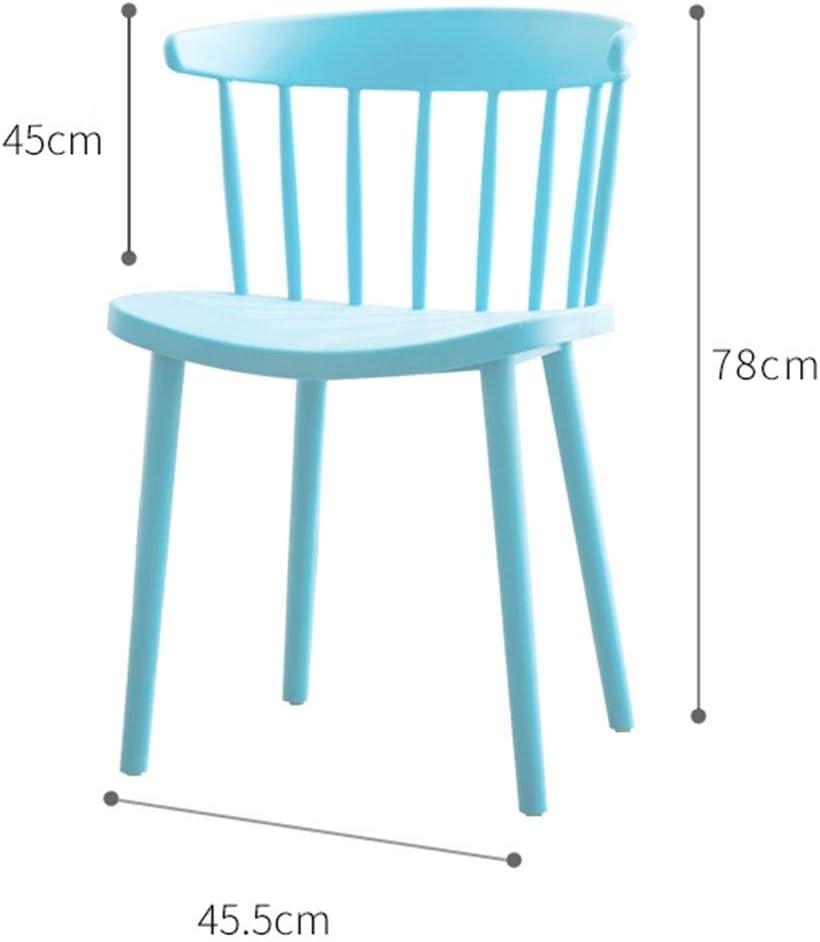 WHOJA Chaise Chaise de salle à manger Dossier d'arc Grande surface d'assise Forte capacité de charge 8 couleurs 45,5x78cm Chaises d'angle (Color : Dark blue) Blue