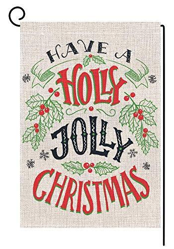 Agrifoglio Jolly Christmas Garden Bandiera 12,5 x 18 Verticale Doppio Lato Inverno Vacanze Yard Decorazioni S999
