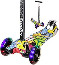 EEDAN Scooter for Kids - 3 Wheel Kick Scooters for Toddlers Girls or Boys - Adjustable Height Wide Deck Max Glider Deluxe PU Flashing Wheels for Children from Ages 2-14 Years Old