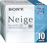 Sony Neige 74 minute Blank MiniDisc 10 Disc Pack...