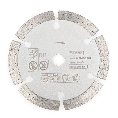 Hoja de sierra – 85 mm x 10 mm diamante corte circular sierra, disco de corte de herramientas rotativas para carpintería