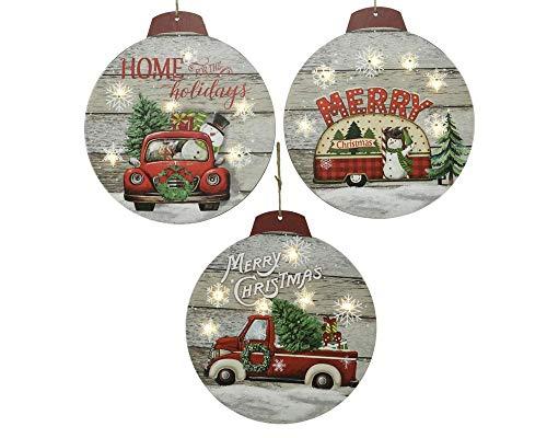 Kaemingk LED in Legno Assortite Natale Luci E Decorazioni, Multicolore, 8718533493214