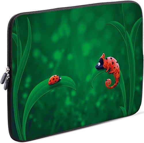 Sidorenko Laptop Tasche für 17-17,3 Zoll | Universal Notebooktasche Schutzhülle | Laptoptasche aus Neopren, PC Computer Hülle Sleeve Case Etui, Grün