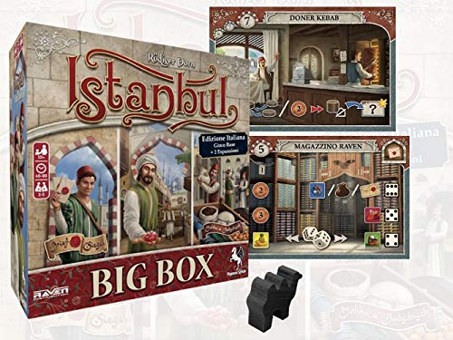Istanbul Big Box – Edición Italiana + Expansiones, Promo y Camello