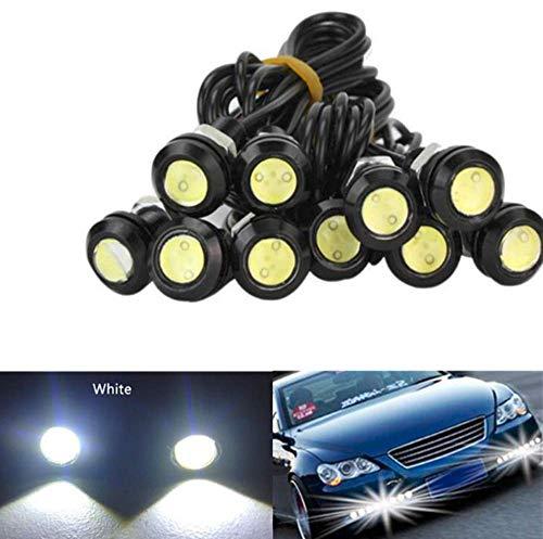 Eagle Eye LED Light, 10pcs 9W 23mm DRL Nebelscheinwerfer Motorradlicht Tagfahrlicht 12V wasserdicht mit Schraube für Motorradautos (Weiß)