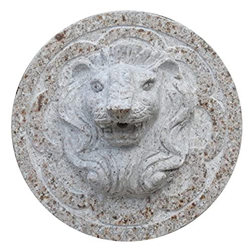 LUCKFY Fuente de Agua de Pared al Aire Libre - Montaje en la Pared de la Cabeza de león - Cascada de Pared para Exteriores para Patio y decoración de jardín, Uso Exterior o Interior