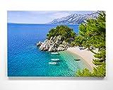 Atemberaubendes Leinwand-Bild Strand & Meer Kroatien - als