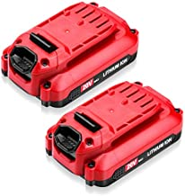 FirstPower 2Packs 20V 2.5Ah Battery CMCB202-2 - Replace for Craftsman 20V Lithium Battery CMCB204 CMCB202 CMCB201 - Compatible with Craftsman V20 Series 20V Max Cordless Power Tools