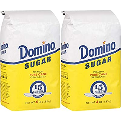 Domino Granulated Pure Cane White Sugar 4 Lb Bag