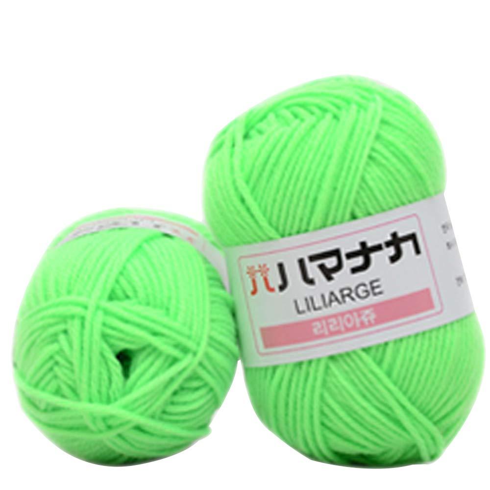 LASPERAL - Hilo de algodón suave para tejer con leche, lana gruesa ...