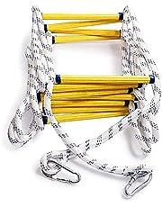 Brandwerende Reddingsladder Touwladder, 3m-50m Brandladder Zwaar, Multifunctionele Ladder Met Karabijnhaken, Voor Snel Gebruik Bij Brand (10m/32.8FT)