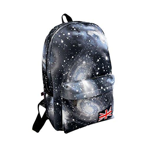 Minetom Galassia Star Universe Tela Borsa A Zainetto Donna Spalla Zaini Femminili Scuola Superiore Zainetti Bag Ragazze Zaino Nero One Size